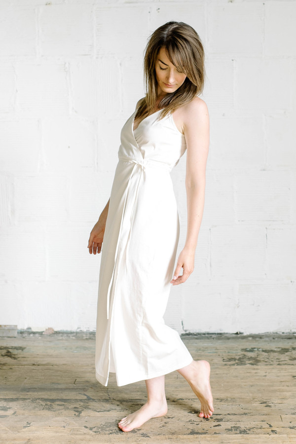 Veryan Wrap Dress - Ivory