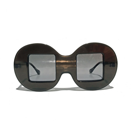 Slow and Steady Wins the Race Circle Frame Square Lens in Grey