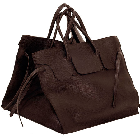 Slow and Steady Wins the Race Four Sided Rectangular Bag in Cocoa