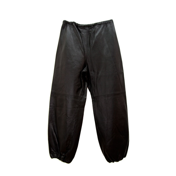 Leather Sweatpants in Cognac