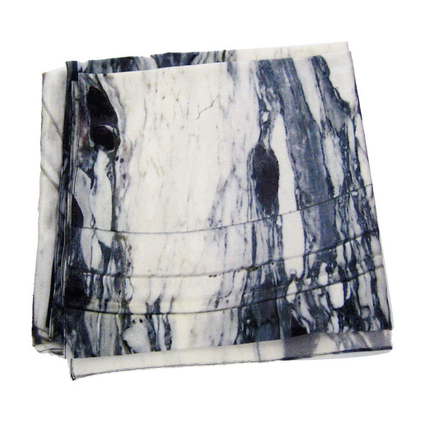 Marble Print Scarf in Bianco