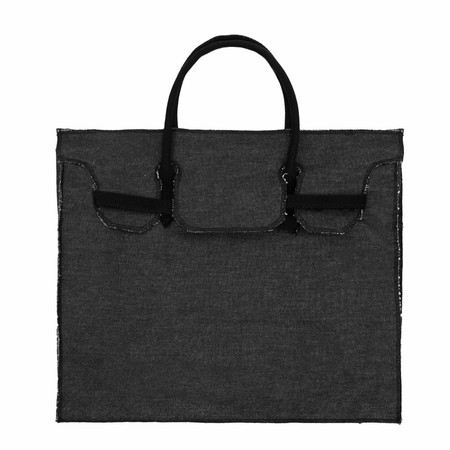 Slow and Steady Wins the Race Rectangular Bag in Black Canvas