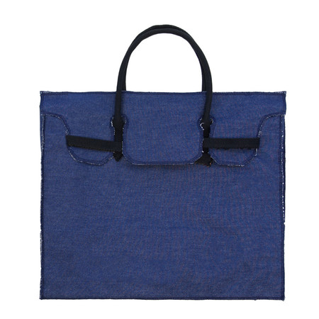 Slow and Steady Wins the Race Rectangular Bag in Denim