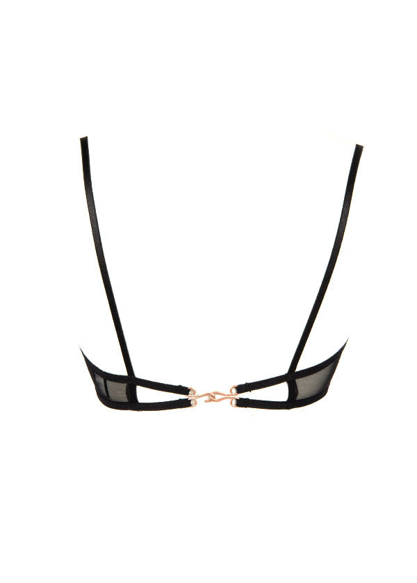 Only Hearts - Lou Lou Hook Closure Bra in Black