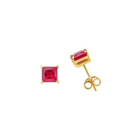 Tara 4779 ARC studs - Ruby