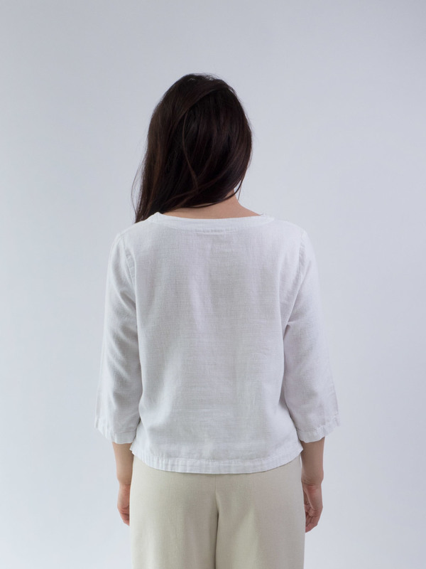 duo nyc,white tunic,tunic DUO NYC Vintage White Tunic