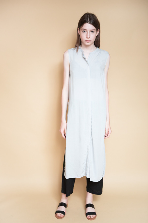 Just Female Marina Long Shirt / Silver