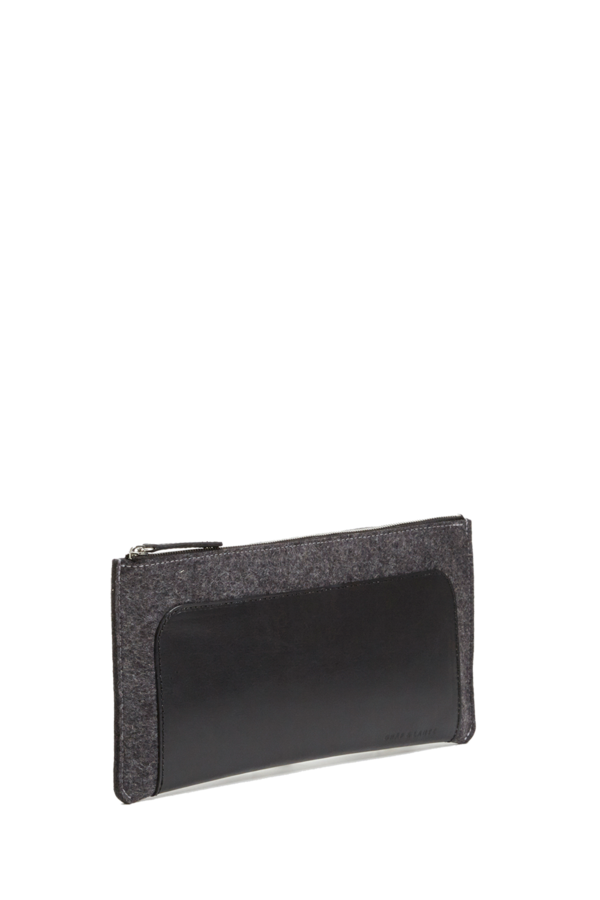 Graf Lantz Andie clutch - charcoal