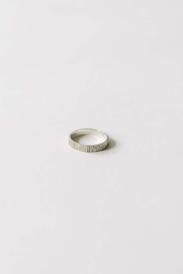 L. SHOFF Sterling Silver Pattern Band