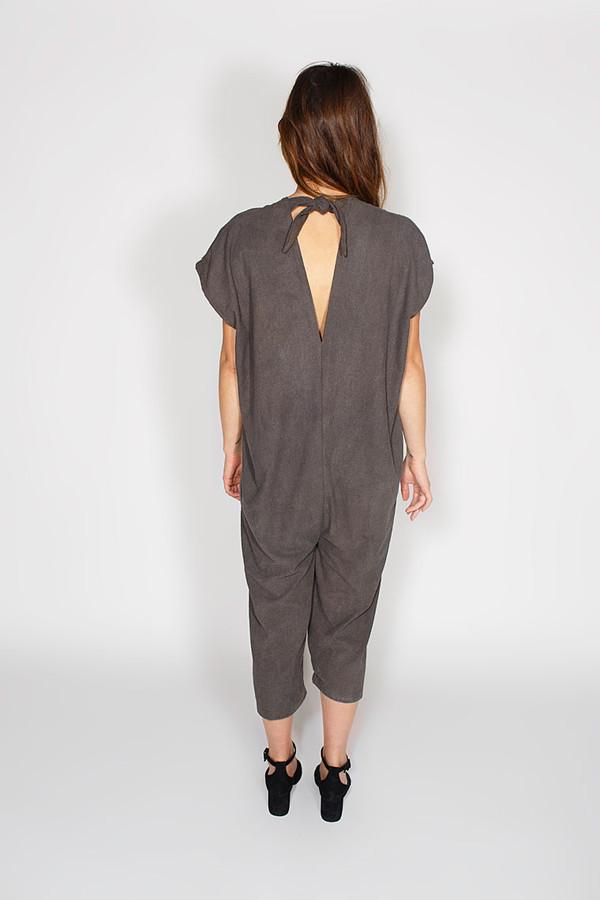 Miranda Bennett Everyday Jumpsuit, Silk Noil in Coal