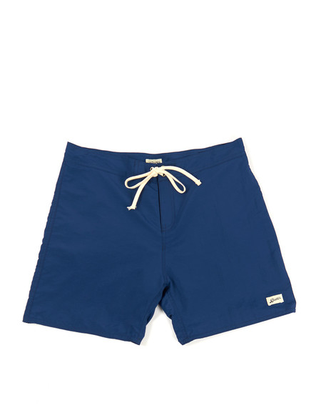 Men's Bather Solid Surf Trunk Navy