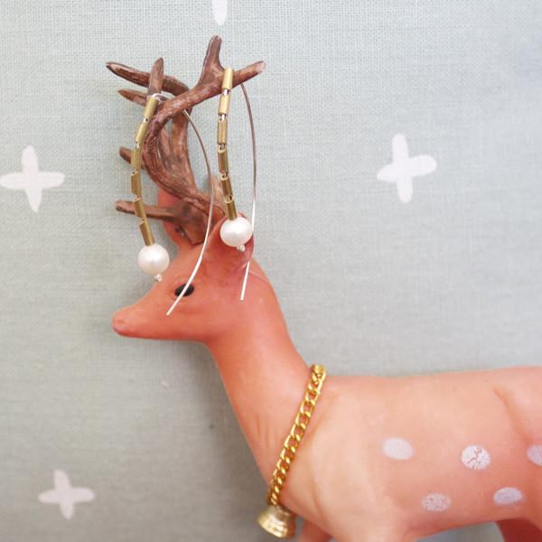 Pearl Arc earrings