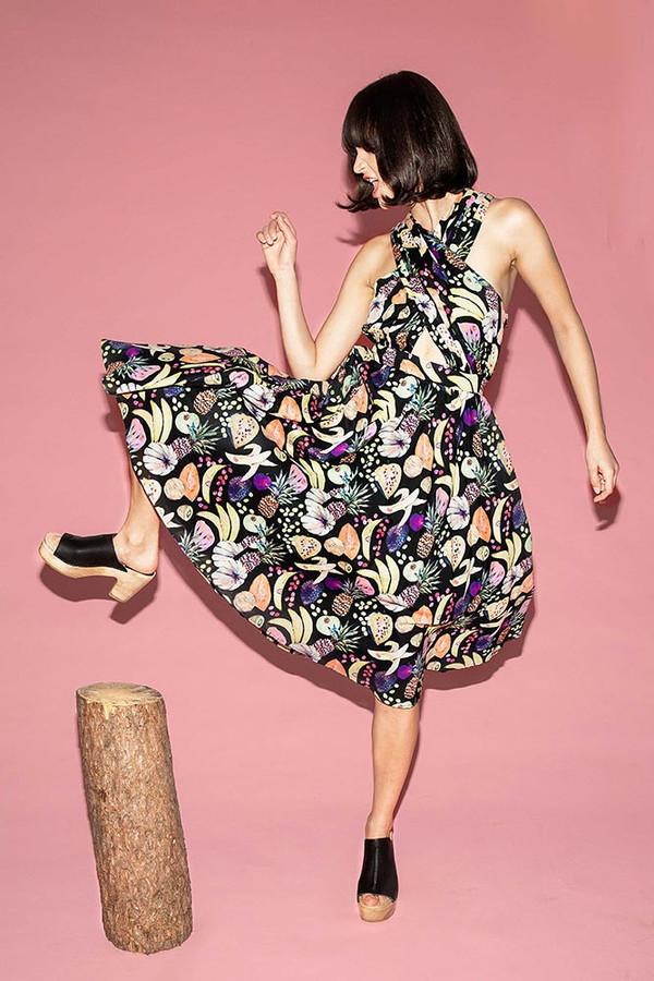 Samantha wrap halter dress