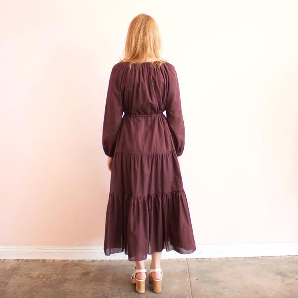 Svilu tiered voile dress