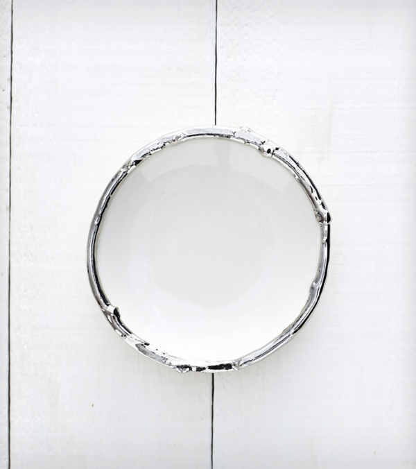 Redraven Studios Porcelain Platinum Ring Dish