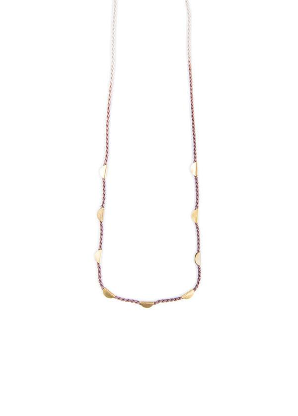 Takara - Halfmoon Necklace Long in Alkanet
