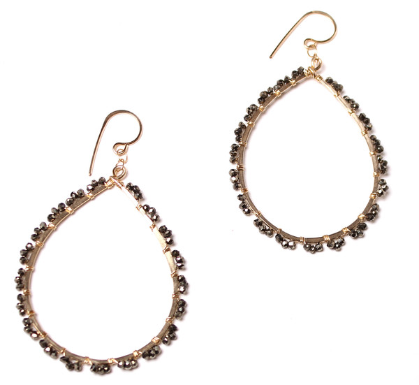 James and Jezebelle Pyrite Dot Hoops