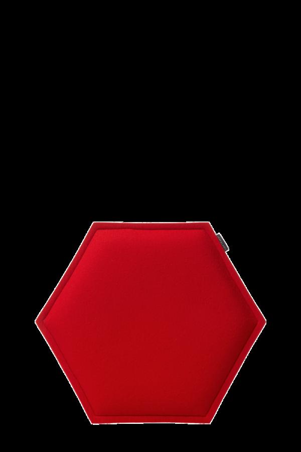 Zabuton Red Honeycomb Seat Pad