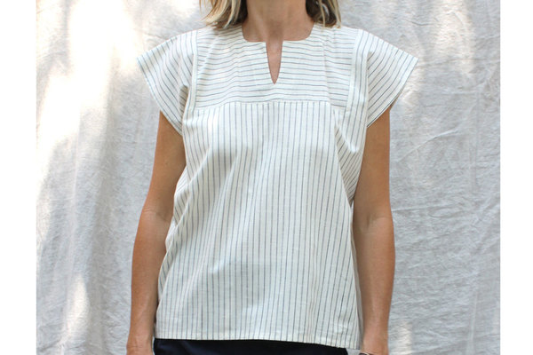 Sayulita Shirt in Souk Stripe