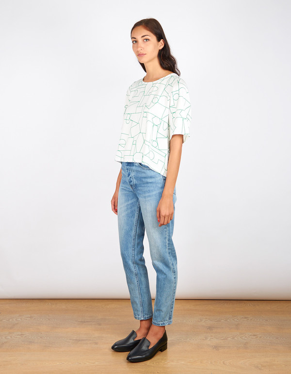Dusen Dusen Big Tee Blockhead Green