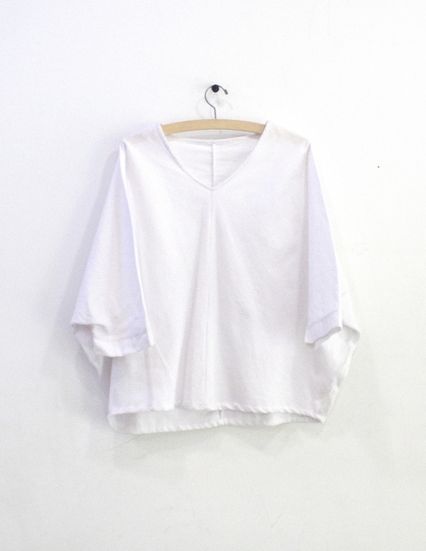 Priory Otaru Top White Flannel