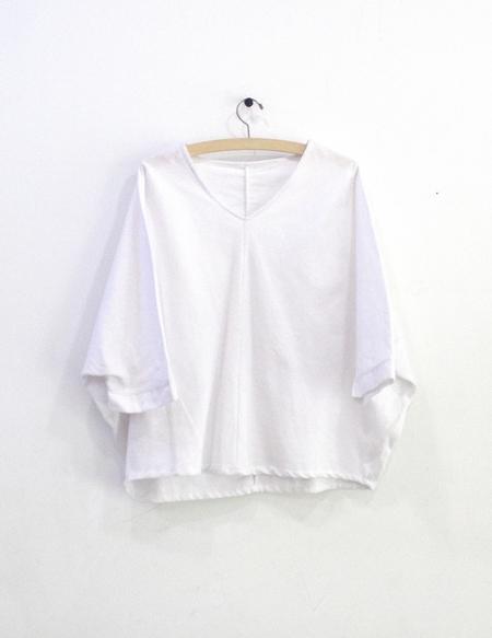Priory Otaru Top White Flannel