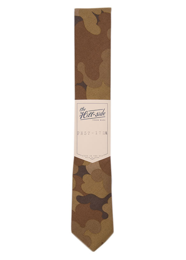 The Hill-Side - Tan Cloud Camouflage Pointed Tie