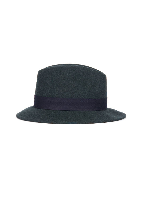 The Hill-Side - Wool Fedora in Blue Green