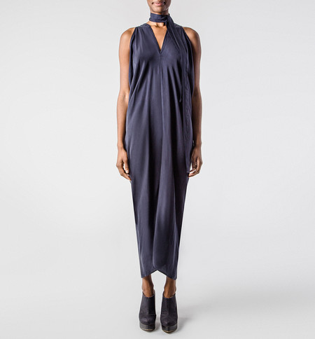 H. Fredriksson  Long Stina Dress Navy