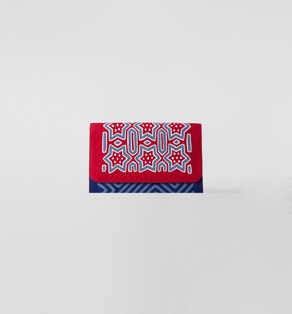 Mola Sasa Mola Denim Clutch Red