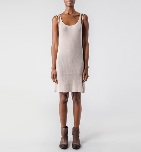 Ryan Roche Tank Dress Champagne