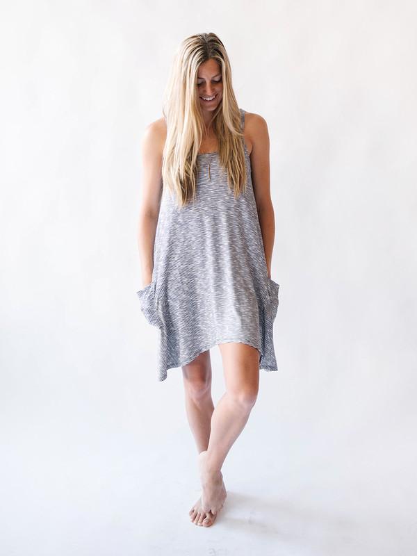 Bella Luxx Cliff Stripe Pocket Dress