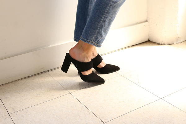 Intentionally Blank MISSY BLACK SUEDE