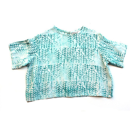 Della Teal Tread Crop Top