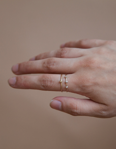 One Six Five Triple Fleck Ring