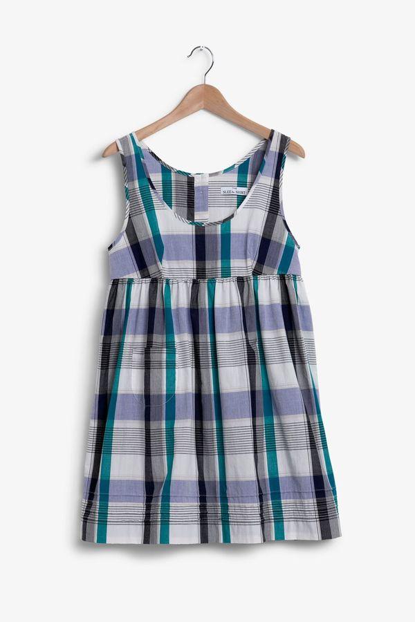 The Sleep Shirt Babydoll Nightie Big Mulberry Plaid