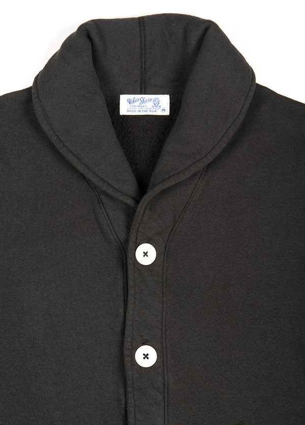 Velva Sheen - Men's Shawl Cardigan in Black