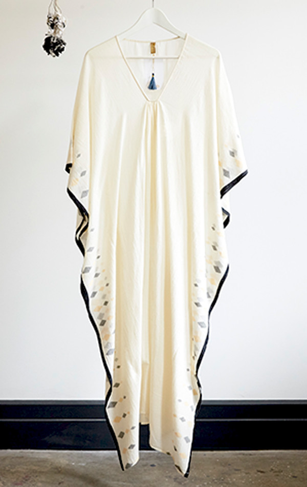 Two diamond  border caftan