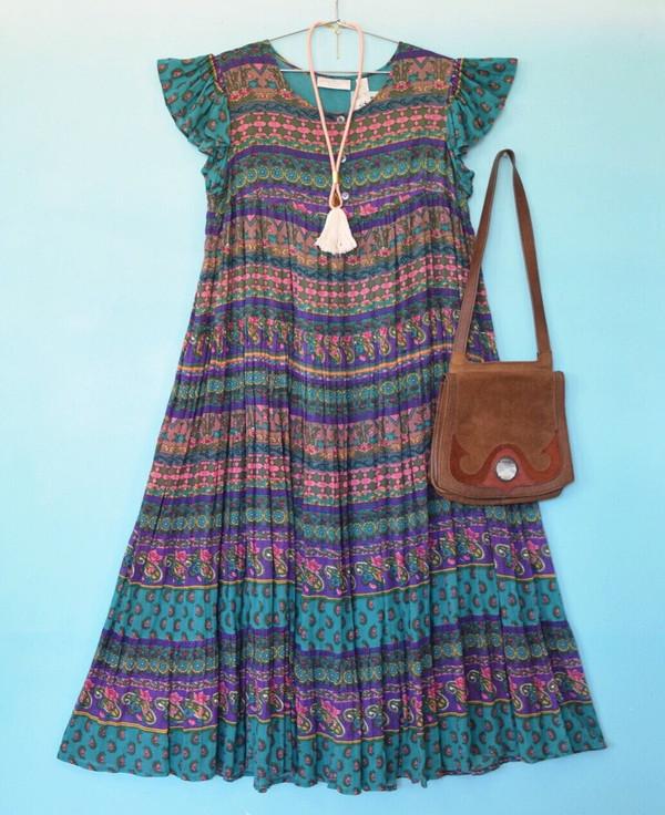 Colorful Indian Print Dress