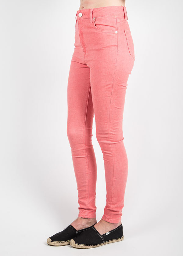 Williamsburg Garment Company - Union Ave Hi Waist Super Skinny in Coral