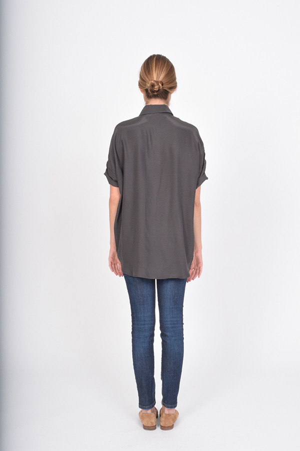 BETWEEN TEN August Button Down - Charcoal