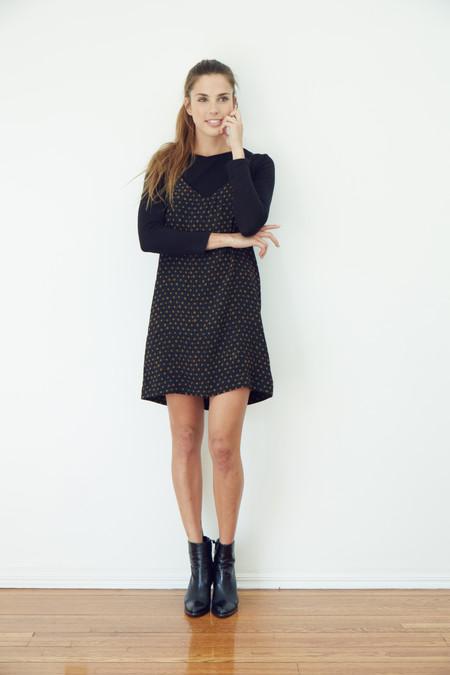 BETWEEN TEN Grace Slip Dress - Black + Gold