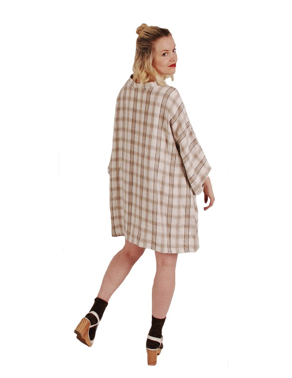 323 Mock Neck Smock Dress