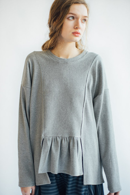 REIFhaus Ripple Sweater in Heather Rib Knit