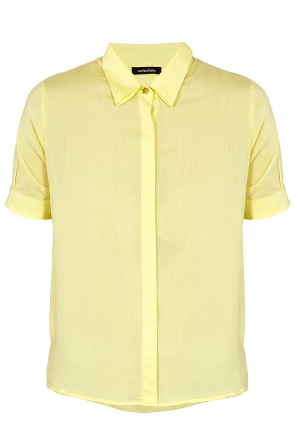 Wackerhaus - 'Mandy' Pale Yellow Short Sleeve Blouse