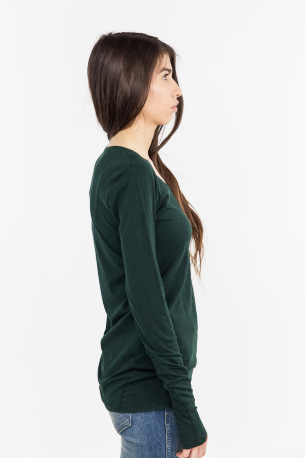 Kowtow Building Block Long Sleeve Top - Bottle Green
