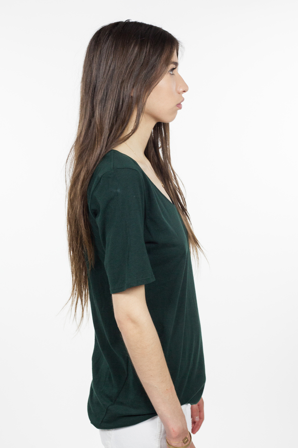 Kowtow Building Block V Tee - Bottle Green
