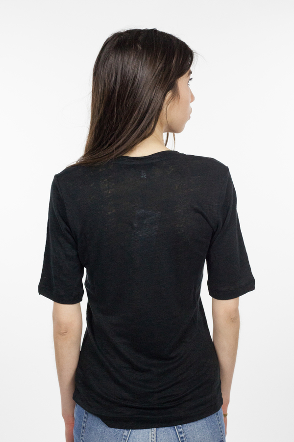 Emerson Fry Luxe Emerson Tee - Black Linen