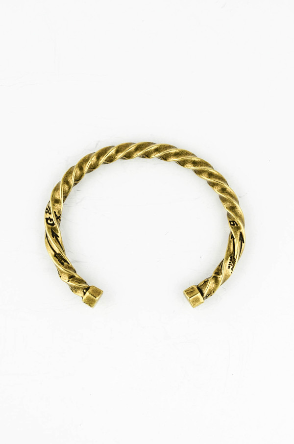 Men's Giles and Brother Brass Twisted Cuff