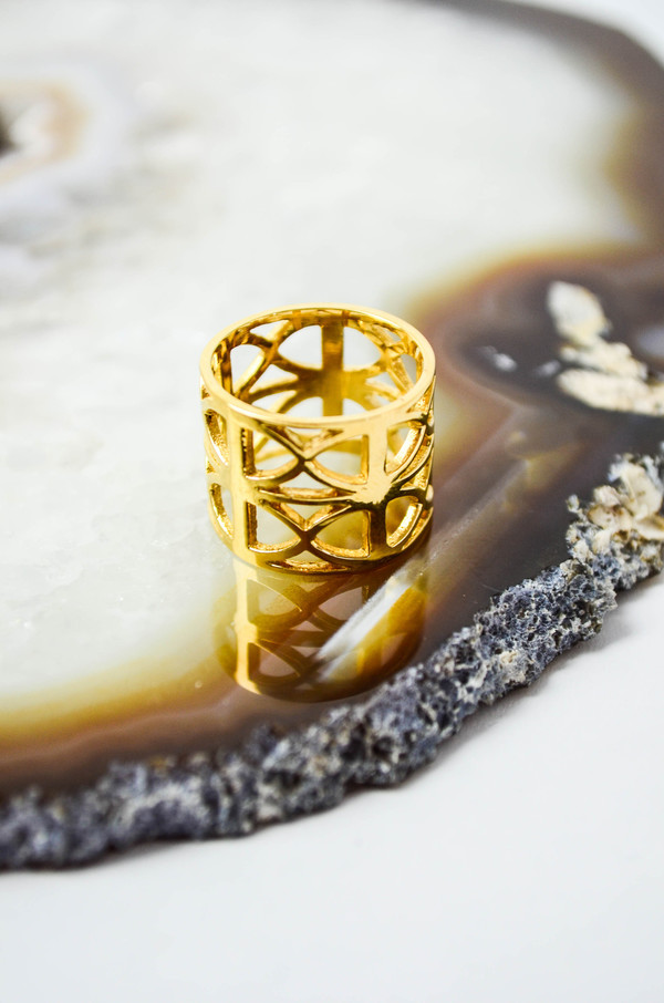Loud Love Jewelry Gold Chamber Ring